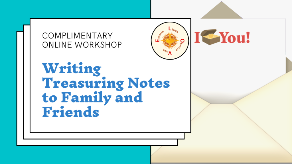treasuring note workshop information